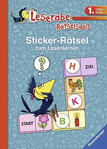 Sticker-Rätsel zum Lesenlernen (1. Lesestufe), blau (Leserabe - Rätselspaß)