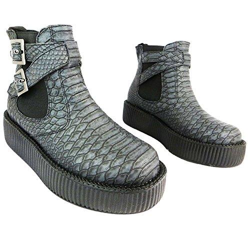 amp; Viva Dragon U Grey Scale T Women's Boot Shoes Chelsea Grey K Black WPAxnWq01