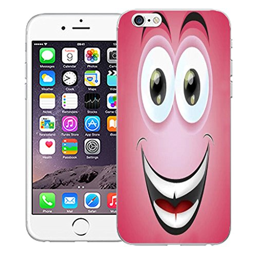 """Mobile Case Mate iPhone 6 4.7"""" Silicone Coque couverture case cover Pare-chocs + STYLET - Grinning Caricature pattern (SILICON)"""