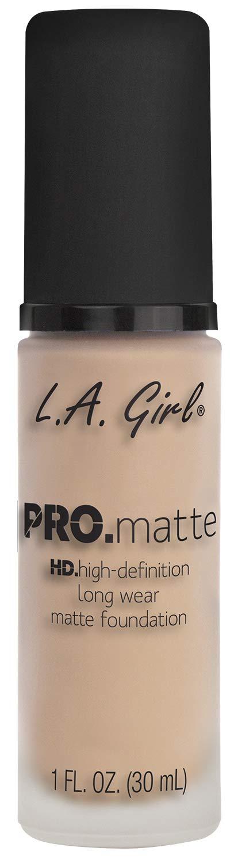 L.A. Girl Pro Matte Foundation, Porcelain, 1 Fluid Ounce