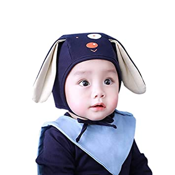 Amazon.com  6-12Months Kids Boys Girls Autumn Winter Warm Cartoon Cute Long  Ear Puppy Hat 2018 New Style  Baby ea35a521fb3a