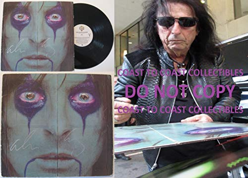 (Alice Cooper signed, autographed, From the Inside Album, Vinyl Record, COA with the Proof Photo will be included. STAR)