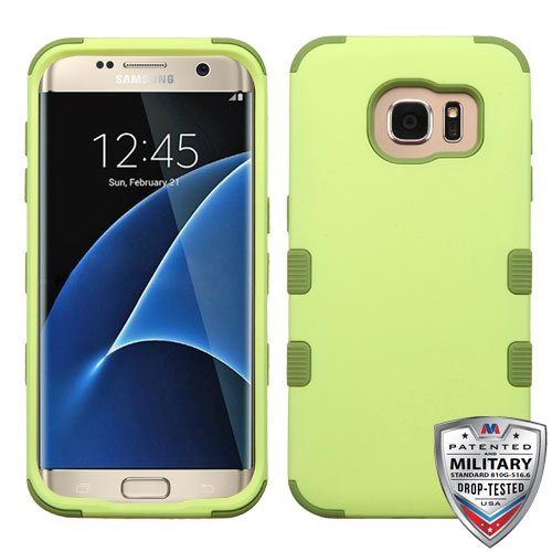 MyBat Funda para Samsung Galaxy S7 Edge Doble Case de Uso Rudo (Verde Olivo)