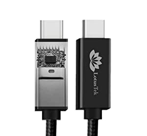 LotusTek | USB-C Cable | Braided USB Super Speed Certified | 6.6ft 2M Long | 100w Charging | Ipad Pro | Oculus Quest | Thunderbolt 3 & USB 4 Compatible | Fast Charge | USB C