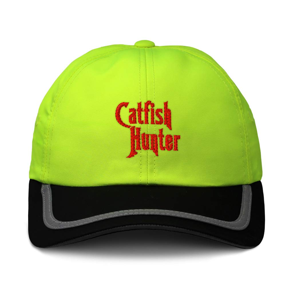 Custom Reflective Running Hat Catfish Hunter Embroidery Polyester One Size