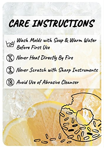 Jacobake 8-Cavity Ball Shape Silicone Mold - Easy Baking Tools for Mousse Cake Chocolate Dessert Ice Cream Bombes - Nonstick & Easy Release - BPA free Food Grade Silicone by Jacobake (Image #6)