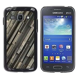 TopCaseStore / la caja del caucho duro de la cubierta de protección de la piel - Gray Pattern - Samsung Galaxy Ace 3 GT-S7270 GT-S7275 GT-S7272