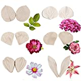 6set Gumpaste Flower Silicone Veining Mold - Fondant Rose Veined Mold,Gum Paste Peony Flower Mold,Sugar Flower Cake Decorating Tool for Lily Daisy Hydrangea Flower Wedding Cake Decoration