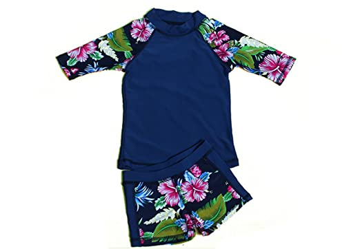 ca33740a21 CADong Baby Toddler Boy Girl Two Piece Swimsuit Set Kid Swimwear Bathing  Suit UPF 50+