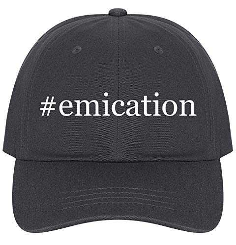 - The Town Butler #Emication - A Nice Comfortable Adjustable Hashtag Dad Hat Cap, Dark Grey, One Size