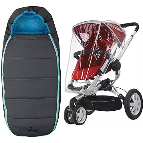 Quinny Buzz Footmuff With Buzz Weathershield in Blue Scratch by Quinny