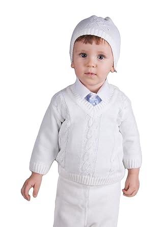 Boutique-Magique Pull Blanc bébé et Petit garçon  Amazon.fr ... 55577b370cc