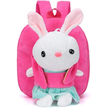 lantusi Little Girl Plush Cartoon Bag Kindergarten Children School Bag Kids' Backpacks