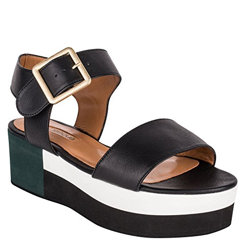 Womens Sandals Assous André Platform Open Occasion Toe Black Paz Special AqCCSRx