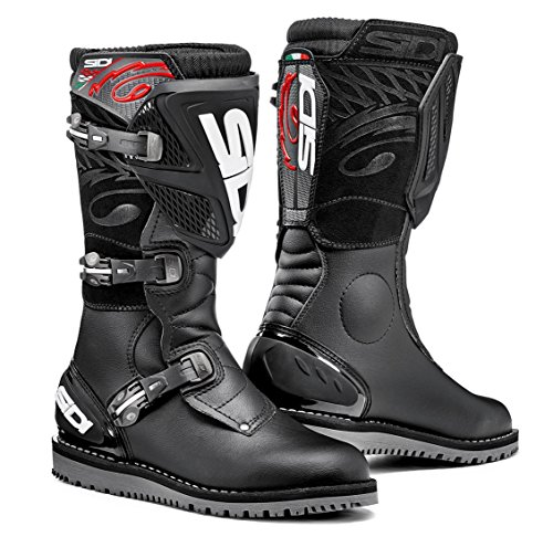 (Sidi Trial Zero.1 Off Road Motorcycle Boots Black US12.5/EU47 (More Size Options))