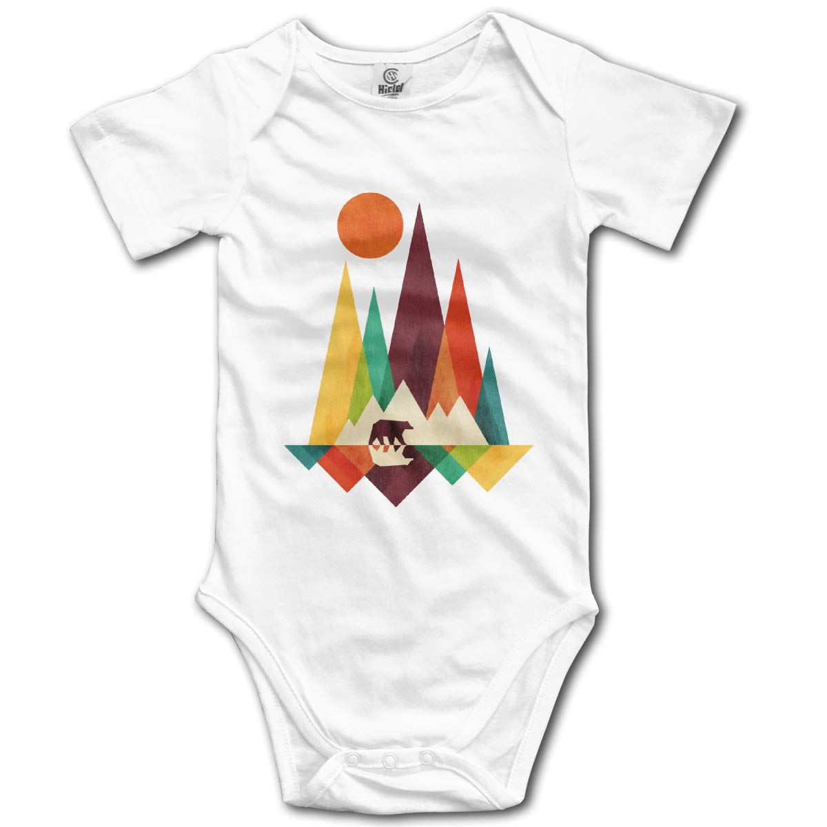 Volunteer Mountain Bear Colorful Boys /& Girls Black Short Sleeve Romper Bodysuit Outfits for 0-24 Months