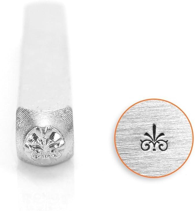 Metal stamp floral pattern Flourish I punch 3mm metal jewellery stamping