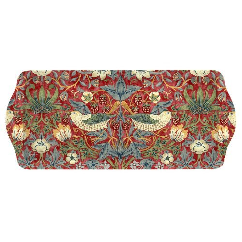 Portmeirion Strawberry (Pimpernel Morris & Co Strawberry Thief Sandwich Tray Red by Portmeirion)