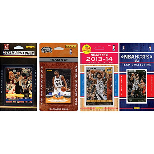 NBA San Antonio Spurs 4 Different Licensed Trading Card Team Sets, Brown, One Size