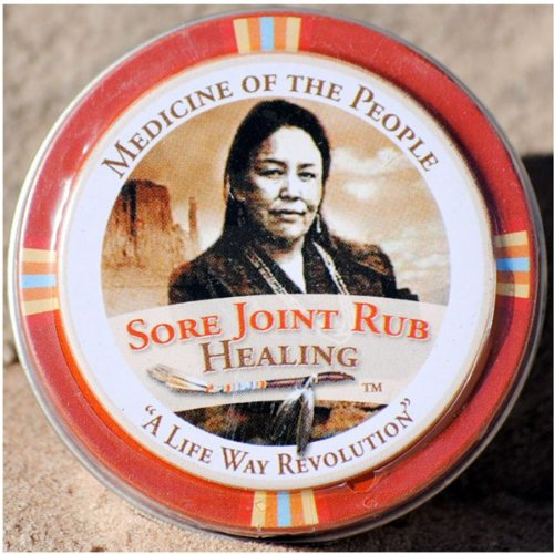 (Sore Joint Rub Healing Salve Ointment for Arthritis, Muscle Pain by Medicine of The People .75 oz)