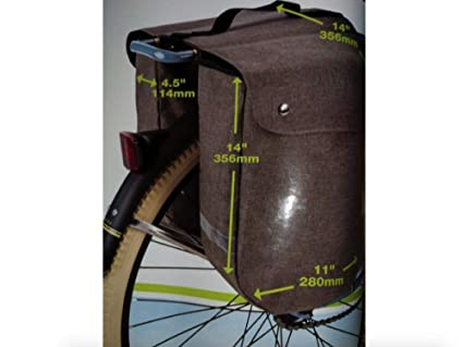 Amazon.com: Huffy - Bolsas de bastidor trasero enrollables ...