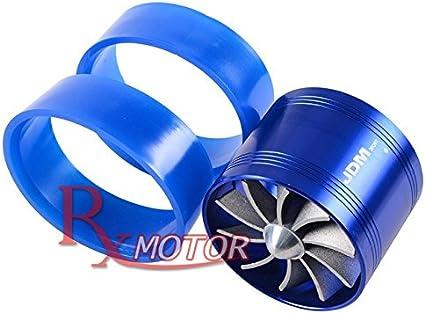 BLUE SUPERCHARGER Short Ram Cold Air Intake Turbonator Turbo Fuel Saver Fan