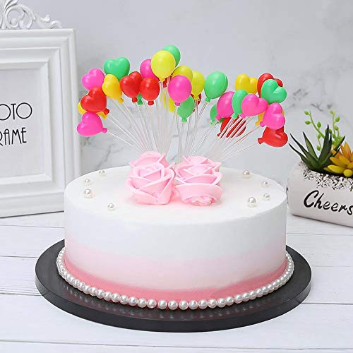 Lioong 16 Colors Plastics Plain And Heart Balloons Cake Toppers Kits Birthday Cupcake Decoration 2 Pack For Kids Baby Shower Amazon