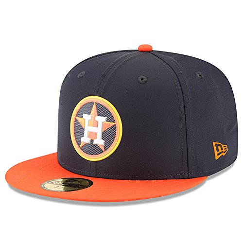 Houston Astros New Era 2018 On-Field Prolight Batting Practice 59FIFTY Fitted Hat – Navy/Orange (7) (Orange Hats Navy Fitted)