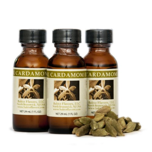 Bakto Flavors Natural Cardamom Extract (1 FL OZ) Pack of 3