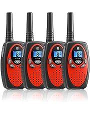 4 Pack Walkie Talkie,16 Kanalen Twee Weg Radio VOX Scan 3 KM Lange Afstand met Backlit Lcd-scherm Walky Talky voor Indoor Outdoor Activiteit