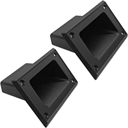 4x Small Black Plastic Amp Amplifier corner PA Cabinets