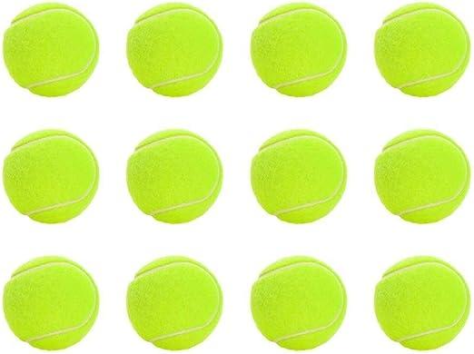 Suministros para el entrenamiento de mascotas 12 Pack Sport Play Pelotas de tenis para mascotas Perro de juguete Cachorro Gato Lanzador Chucker Ball Jugar juguete para ejercicios de entrenamiento: Amazon.es: Productos para