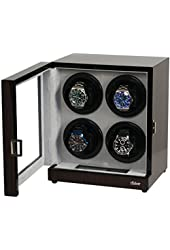 Belocia Four Automatic Watch Winder Solid Wood W/LCD Display