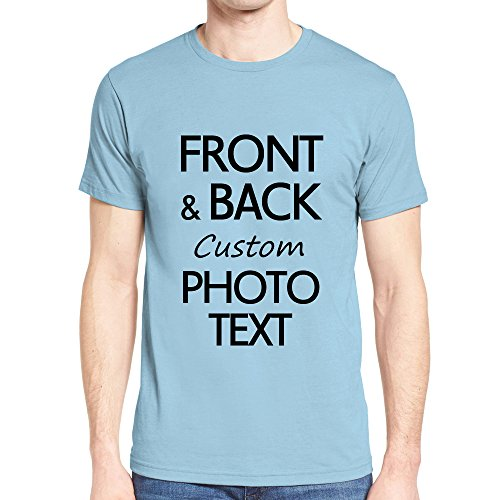 NIWAHO Customized tee Shirts Add Your Own Text Print Personalized Funny T-Shirt Gift Light ()