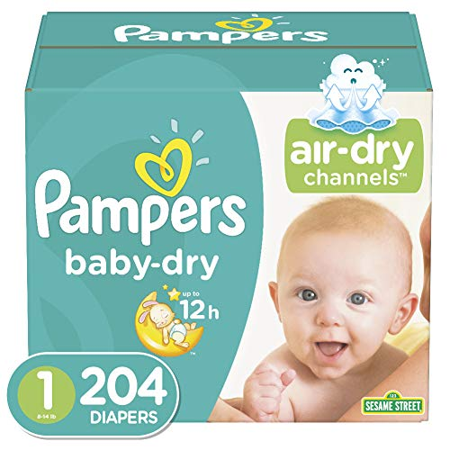 Diapers Size 1, 204 Count – Pampers Baby Dry Disposable Baby Diapers, Enormous Pack