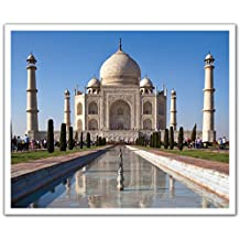 J.P. London POS2372 uStrip Peel and Stick Removable Wall Decal Sticker Mural Taj Mahal India Palace, 24-Inch by 19.75-Inch