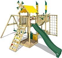 WICKEY Parque infantil de madera Smart Wing con columpio y tobogán ...