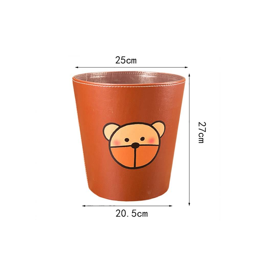 FutureShapers 10L Impermeable Cubo de Basura Papelera para Oficina Cocina 25 * 25 * 27CM,Patr/ón Perro Infantil