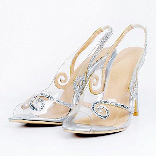Kolnoo - Pantuflas de caña alta Mujer plata