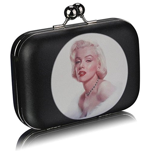 LeahWard CWE00290 Print For Paris Wedding Women's Clutch Bags Kisslock Purses Party Out Prom NAVY Evening Monroe Night Marilyn wrgw6qE