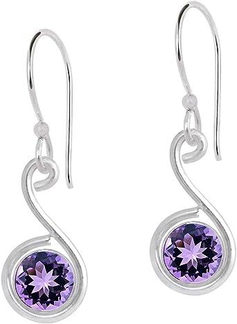 Amethyst /& pearl silver earrings February birthstone teardrop earrings purple stone earrings June gemstone earrings