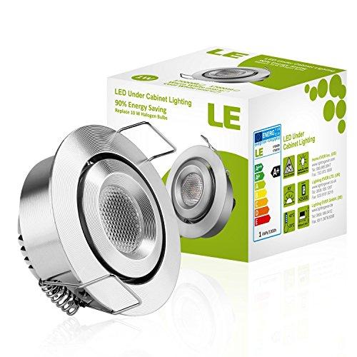 le 1 5 inch led under cabinet lighting 1w 12v dc 80lm 10w halogen bulbs new ebay. Black Bedroom Furniture Sets. Home Design Ideas