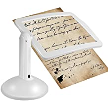 Reading Magnifier, Hand-free 3X Full-Page Magnifier, Wallfire Magnifying Glass LED Lighted Desktop Lamp for Reading Inspection,Repairing,Handcraft, Crafts, Needlework, Hobbies