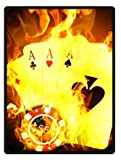 Poker Playing Cards Throw Blanket 58'' x 80'' (Large)