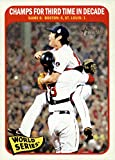 2014 Topps Heritage #137 World Series Game 6 CHAMPS FOR THIRD TIME IN DECADE - Boston Red Sox (Baseball Cards)
