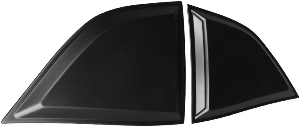 Window Louver Compatible With 2008-2019 Dodge Challenger IKON MOTORSPORTS XE Style,Rear Louver and Side Quarter Scoop Louvers