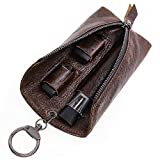 VEEAPE Universally Genuine Leather JUUL Pouch with Keyring Multiple Use Portable Vape Holster Carrying Case for JUUL, MLV PHIX, Smok fit Kit, INFINIX Kit