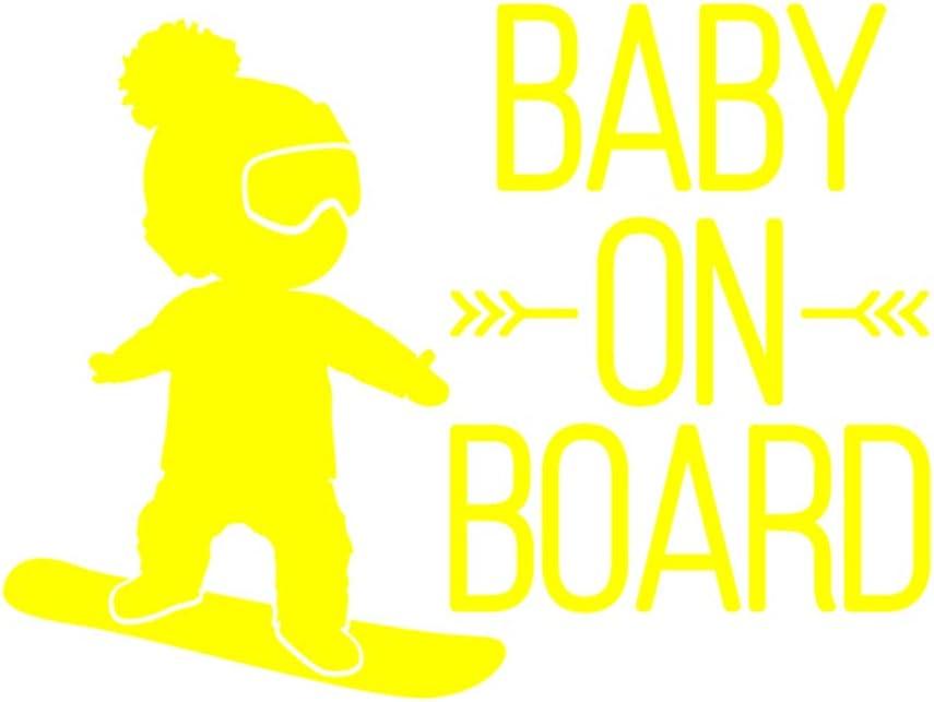 jiyoujianzhu 16/x 12/cm Impermeabile Styling Auto Finestra Decalcomania Baby on Board Snowboard