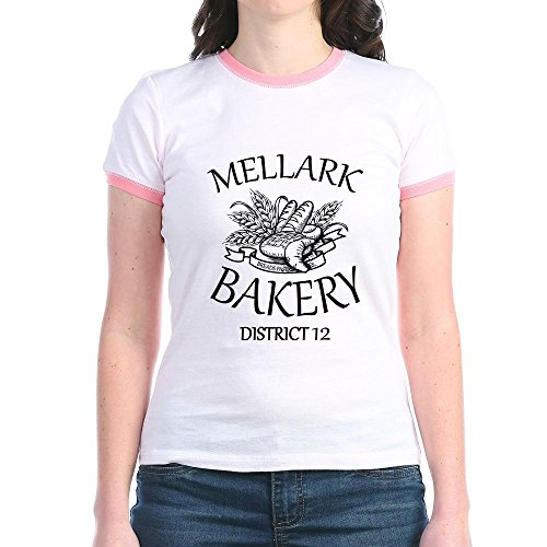 Price comparison product image CafePress - HG Mellark Bakery - Jr. Ringer T-Shirt, Slim Fit 100% Cotton Ringed Shirt