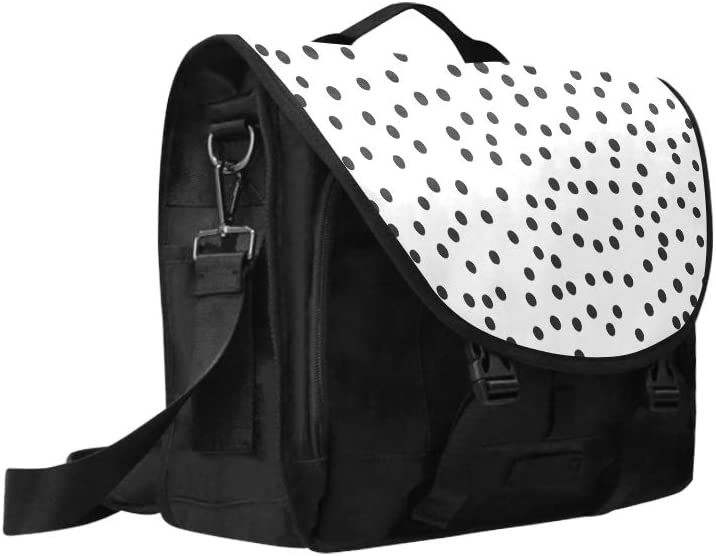 Custom Laptop Carrying Case Classic Polka Dot Multi-Functional Crossbody Travel Bag Fit for 15 Inch Computer Notebook MacBook